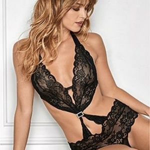 Sexy Lace One Piece Halter Lingerie